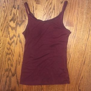 BRAND NEW burgundy-colored tank with stitching